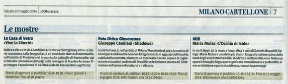 Il Giornale Milano 17 maggio 2014 VlaLib