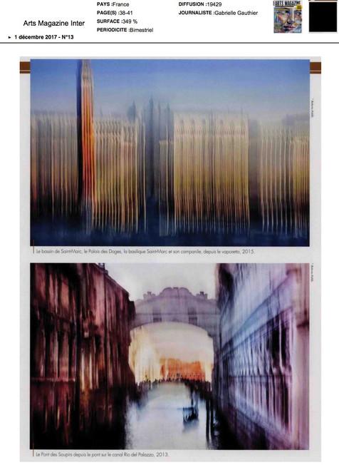 arts magazine international Visions of Venice a Paris 2
