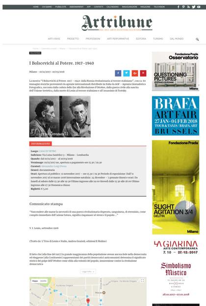 Artribune.com i Bolscevichi al potere