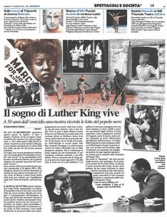 il Giorno Milano 31 marzo 2018 I Have a Dream