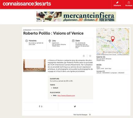 connaissance des arts_com Visions of Venice a Paris