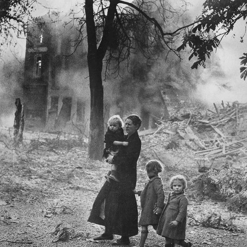 """""""Belgian refugees.""""  Circa 1940 Belgium Author unknown or not provided © courtesy U.S. National Archives and Records Administration"""