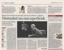 """Corriere della sera Milan on sale today dedicates an article to our """"LEWIS HINE. AMERICAN KIDS&"""