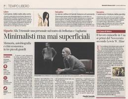 """Corriere della sera Milano in edicola oggi dedica un box alla nostra mostra """"Lewis Hine. Americ"""