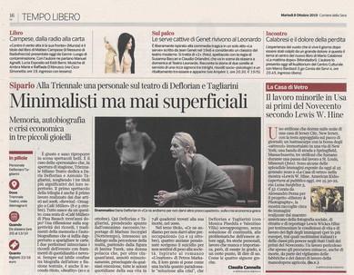 Corriere della sera Milano 8 ottobre 2019 american kids