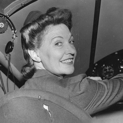 """""""Wing Scouts. National Wing Commander for girls, Mrs. Harry T. Jordan. National Aeronautic Association. Junior Air Reserves.""""  June 15, 1942 USA Author unknown or not provided © courtesy Franklin D. Roosevelt Library Public Domain Photographs, 1882 - 1962 Collection/ U.S. National Archives and Records Administration"""