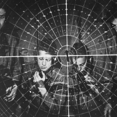 """""""Radar scope""""  1944 - 1945 Author unknown or not provided © courtesy U.S. Navy / U.S. National Archives and Records Administration"""
