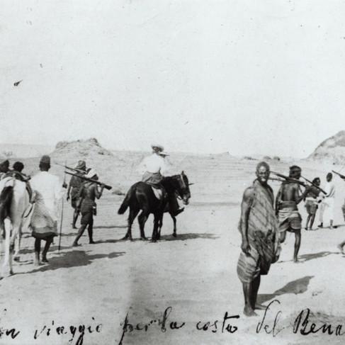 """""""In viaggio per la costa del Benadir"""" La carovana di Luigi Robecchi Bricchetti in viaggio verso la costa del Benadir"""