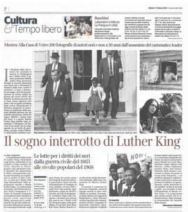 Corriere della Sera Milano 31 marzo 2018 I Have a Dream