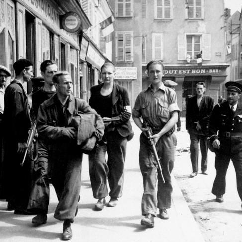 Membri della Resistenza durante la liberazione di Chartres
