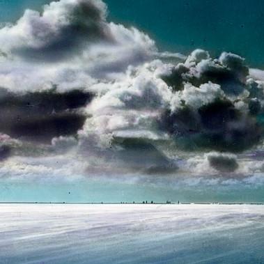 Nubi all'orizzonte sul Mare del Nord