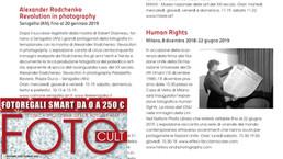 """Foto Cult in edicola segnala la nostra mostra """"Human Rights"""""""