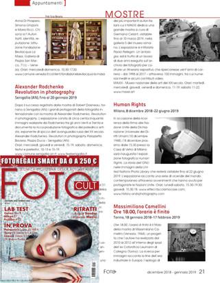FotoCult 157 Dic2018-Gen2019 Human Rights