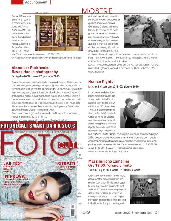 FotoCult 157 Dic2018-Gen2019 HumanRights