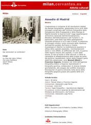Instituto Cervantes Milano Assedio a Madrid