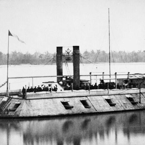 La U.S.S. St. Louis, la prima cannoniera corazzata della marina degli Stati Uniti, rinominata il Barone di Kalb