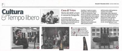 Corriere della Sera Milano 7 dicembre 2018 HumanRights