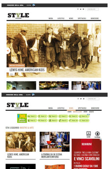 """Style.it also offers our """"LEWIS HINE. AMERICAN KIDS"""" exhibition on the home page"""