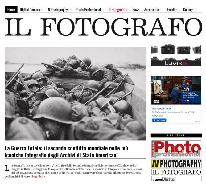 """il Fotografo.it dedica alla nostra mostra """"la Guerra Totale"""" anche la home page"""