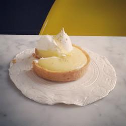 Assiette porcelaine citron