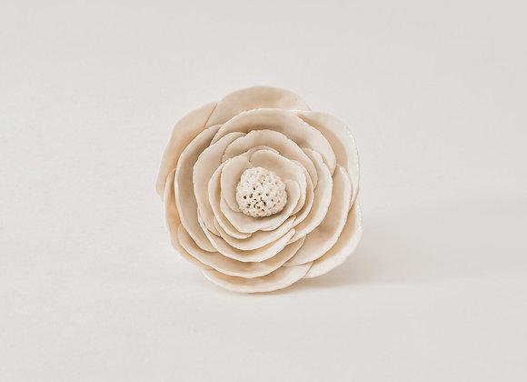 Fleur de givre en porcelaine