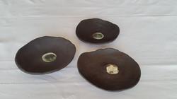 3 coupelles noires