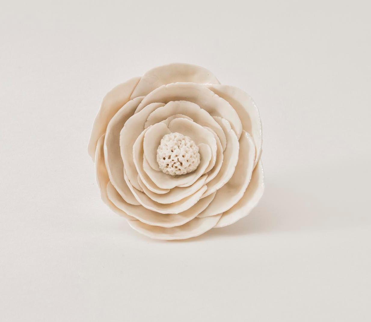Fleur blanche porcelaine