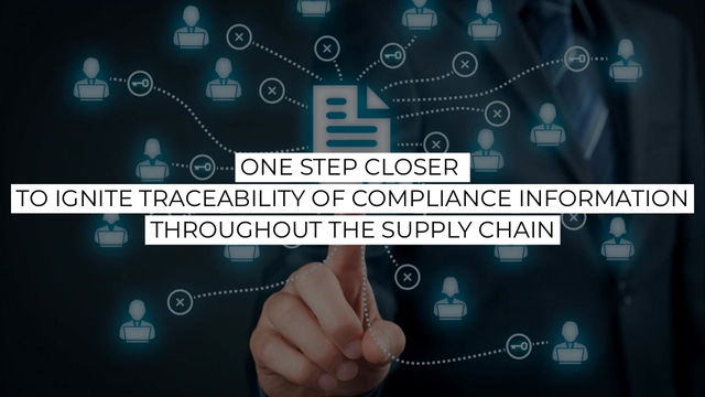 One Step Closer To Enable Traceability of Supplier Compliance Information