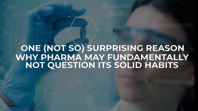 To evolve or not to evolve? One reason why Pharma companies could, or could not do so.