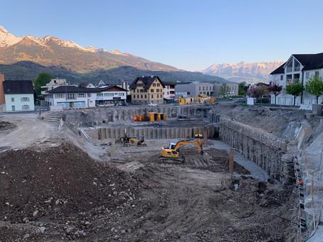 SonnenPlatz Triesen - Baugrube