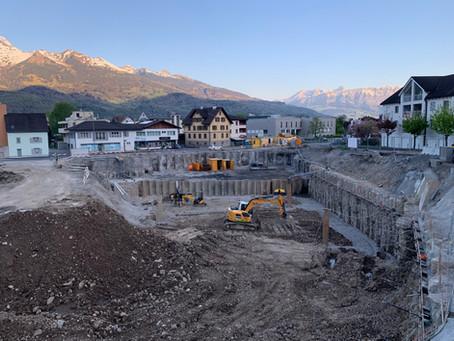 Überbauung SonnenPlatz Triesen - Baugrube