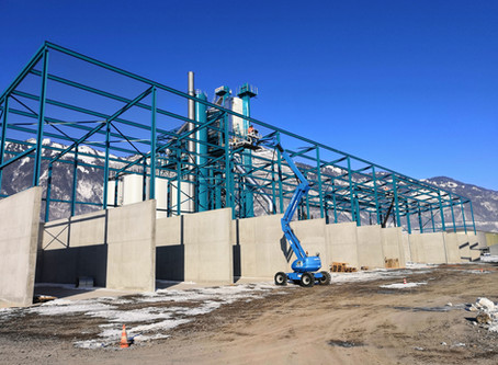 Neubau Mischgutanlage, Sennwald - Stahlbau