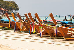 discover colorful boats in Thailand
