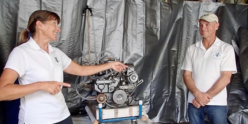 diesel instructors enjoying