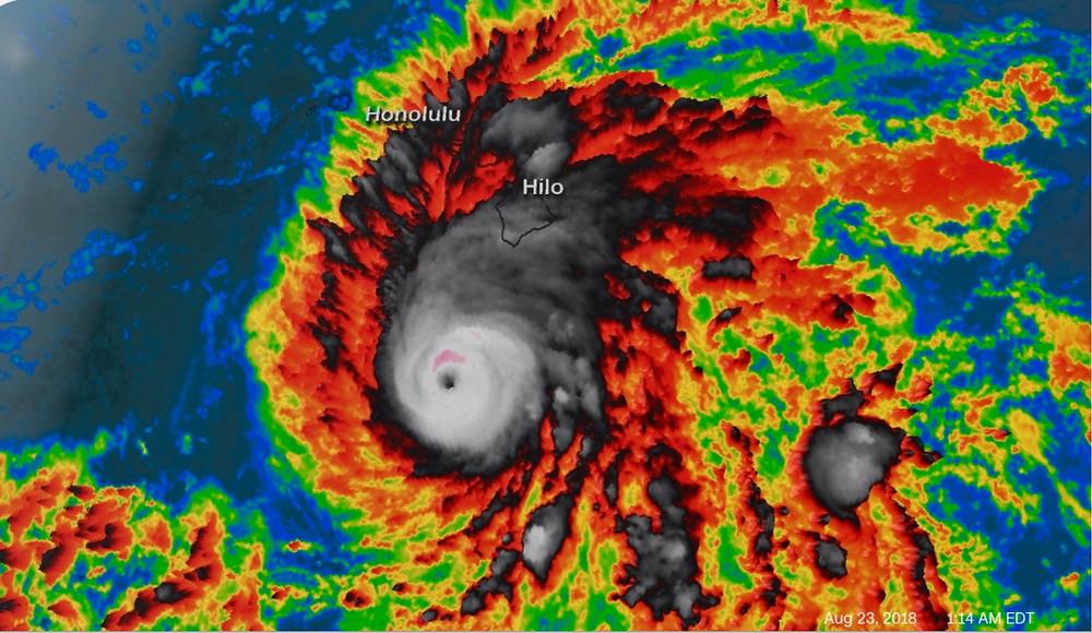 satellite image of hurricane Lane