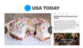 A Birthday Doughnut from City Garden Doughnuts is featured in USA Today