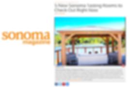 Notre Vue Estate's outdoor pavilion featured in Sonoma Magazine
