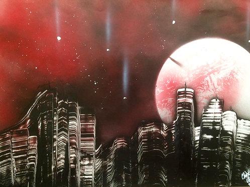 """Peinture bombe """"New York"""""""