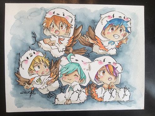 Aquarelle 037 copains manga