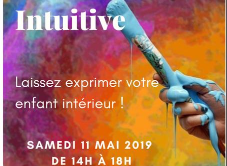 """Atelier """"Peinture intuitive"""" du samedi 11 mai 👉Complet💙💚💜💛"""