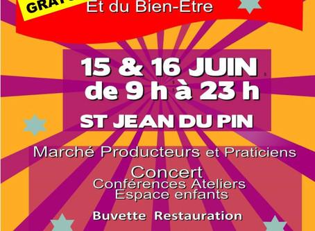 Festival de la Vie les 15 et 16 juin 2019 à Saint Jean du Pin (30)