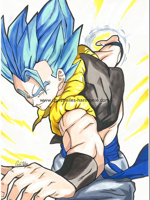 109 Goku cheveux bleus