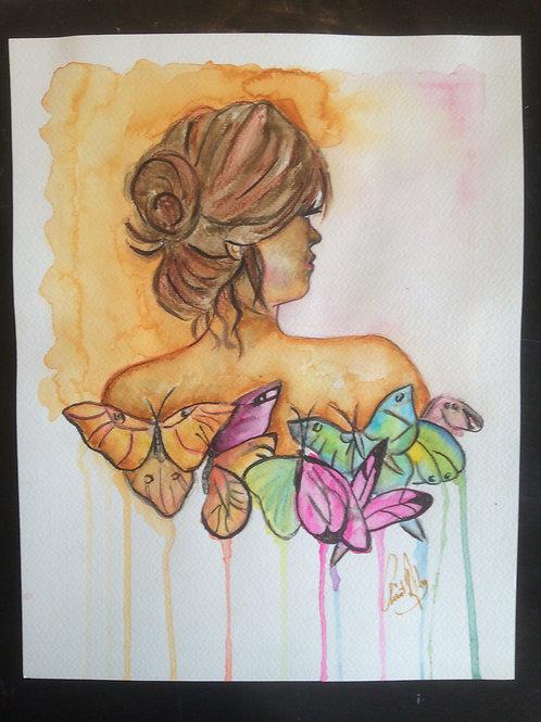 Aquarelle 033 Dos papillon