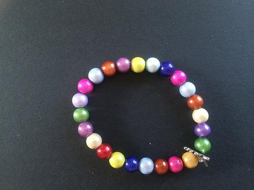 """Bracelet Miracle """"Arc en ciel de couleurs N°3"""""""