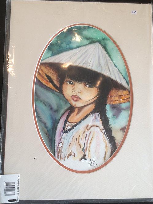 Aquarelle 071 MH fille asiatique