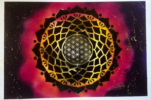 """Peinture bombe """"Mandala"""""""