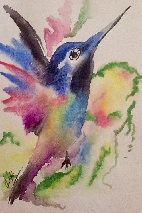 Aquarelle 003 Oiseau