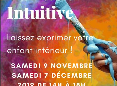 """Ateliers Peinture Intuitive """"Un temps pour Soi"""" octobre et novembre 2019"""