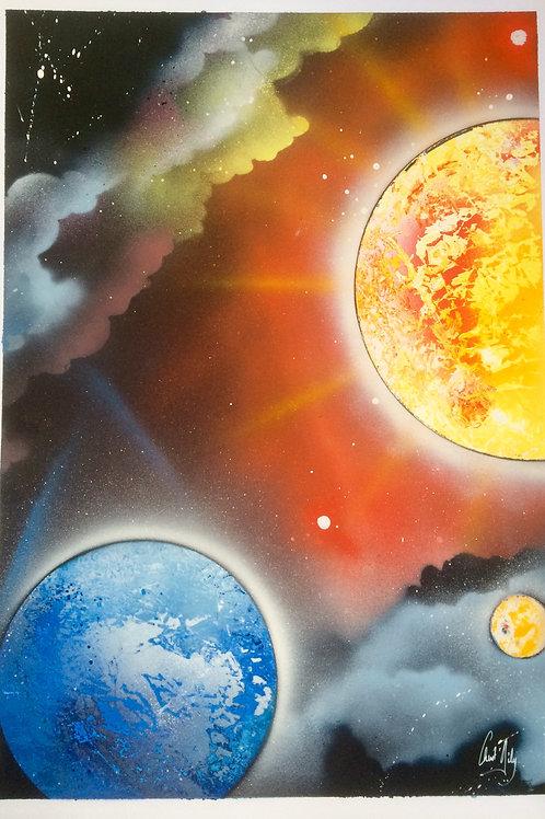 "Peinture bombe ""Univers N°3"""