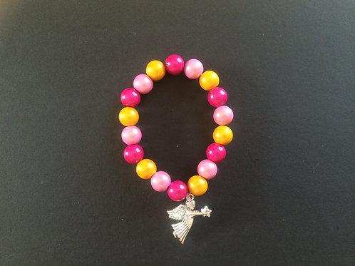 """Bracelet Miracle """"Fushia, rose et jaune"""""""